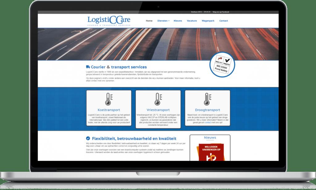 Website laten maken in Rijssen - Opgeleverde site LogistiCCare