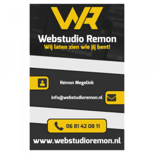 Webstudio Remon visitekaartje
