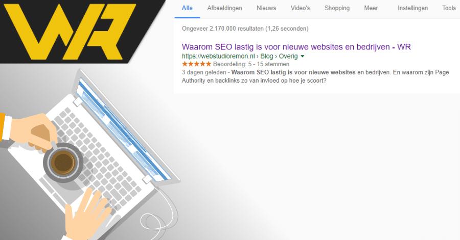 Sterren in Google resultaten laten zien