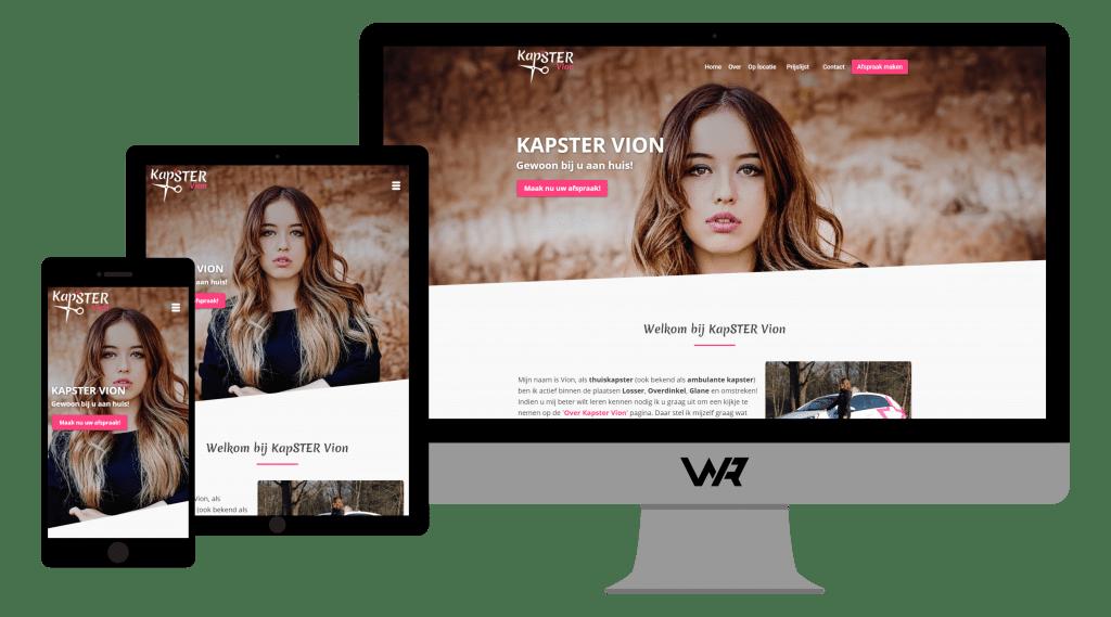 Kapster Vion WordPress Webdesign