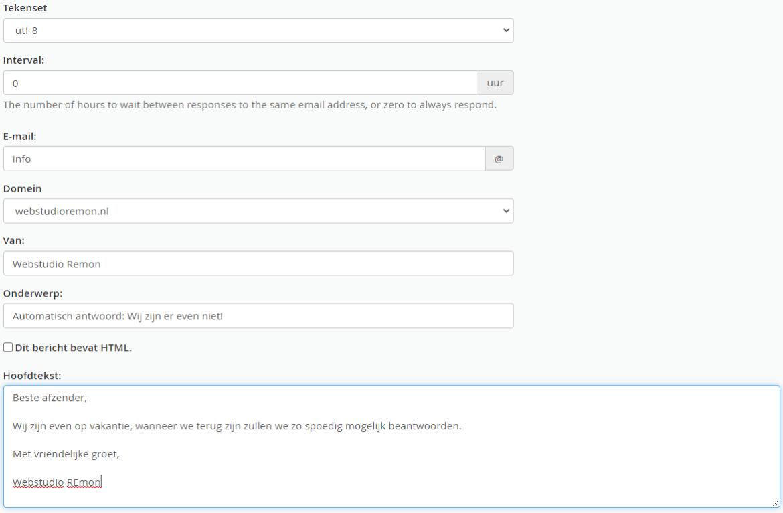 Hoe stel ik een automatisch antwoord in?
